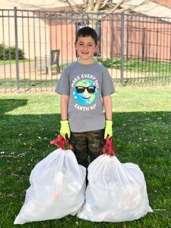 Jordan Bank student celebrates early Earth Day