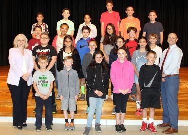 Hopewell Elementary School April Students of the Month