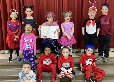 English Honor Society reads Dr. Seuss for K-3 students
