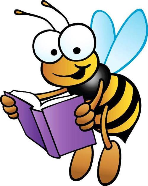 Bee with Book