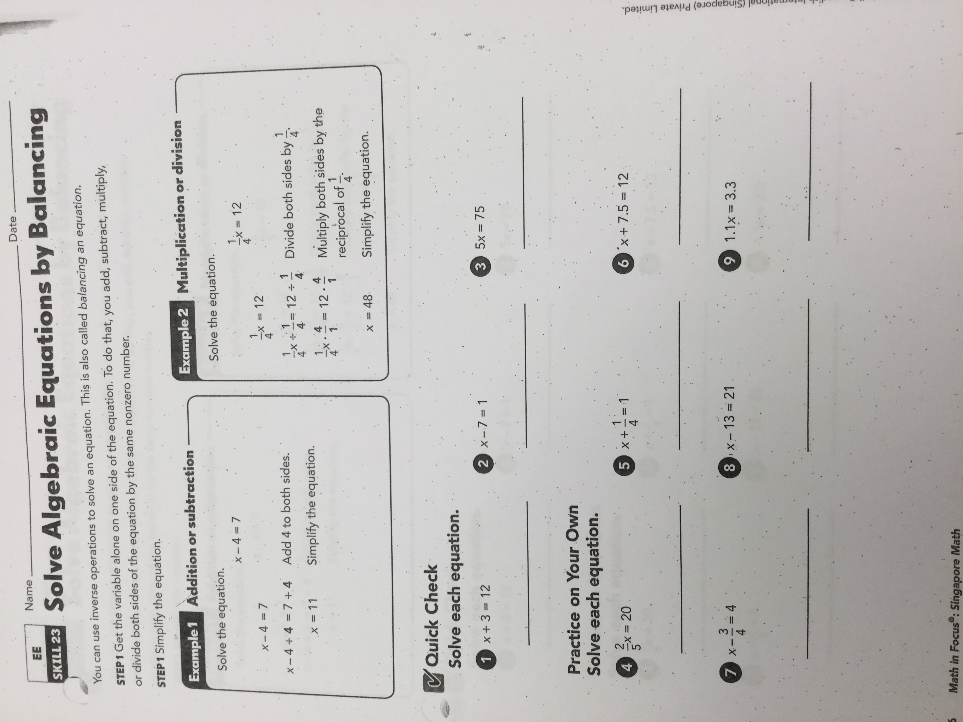 Modern 5 Minute Addition And Subtraction Drills Images - Math ...