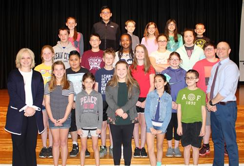 Hopewell Elementary School March Students of the Month